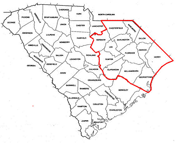 SC County Map w lines of coverage